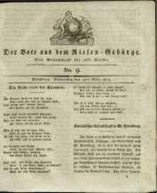 Der Bote aus dem Riesen-Gebirge : eine Wochenschrift für alle Stände, R. 1, 1813, nr 9