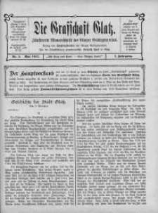 Die Grafschaft Glatz : Illustrierte Monatschrift des Glatzer Gebirgsvereins, Jr. 7, 1912, nr 5
