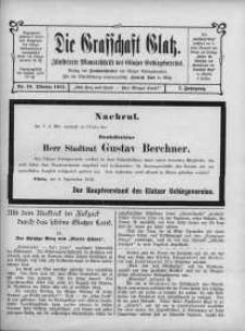 Die Grafschaft Glatz : Illustrierte Monatschrift des Glatzer Gebirgsvereins, Jr. 7, 1912, nr 10