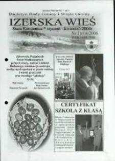 Izerska Wieś : Biuletyn Rady Gminy i Wójta Gminy, 2006, nr 16