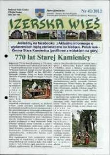 Izerska Wieś : Biuletyn Rady Gminy i Wójta Gminy, 2012, nr 42