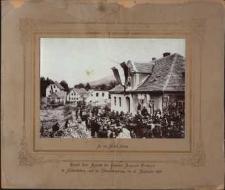 Besuch Ihrer Majestät Kaiserin Augusta Victoria in Schmiedeberg nach der Uberschwemmung, am 21. September 1897 [Dokument ikonograficzny]