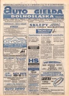 Auto Giełda Dolnośląska : pismo dla kupujących i sprzedających samochody, R. 3, 1994, nr 38 (127) [23.09]