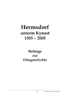 Hermsdorf unterm Kynast 1305-2005 : Beiträge zur Ortsgeschichte [Dokument elektroniczny]