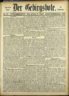 Der Gebirgsbote, 1899, nr 68 [25.08]