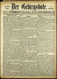 Der Gebirgsbote, 1899, nr 70 [1.09]