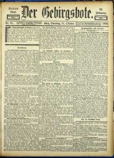 Der Gebirgsbote, 1899, nr 87 [31.10]