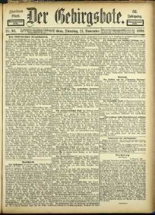 Der Gebirgsbote, 1899, nr 93 [21.11]