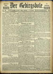 Der Gebirgsbote, 1899, nr 96 [1.12]