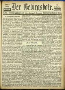 Der Gebirgsbote, 1899, nr 98 [8.12]