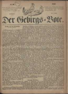 Der Gebirgsbote, 1867, nr 40