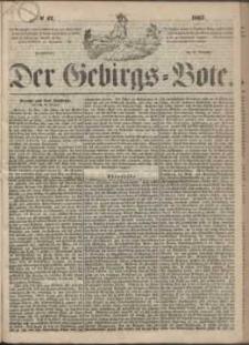 Der Gebirgsbote, 1867, nr 47