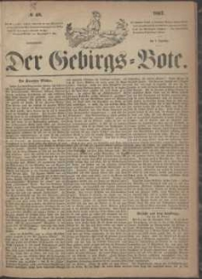 Der Gebirgsbote, 1867, nr 49