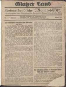 Glatzer Land, 1927, nr 1