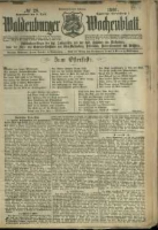 Waldenburger Wochenblatt, Jg. 47, 1901, nr 28