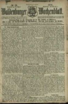 Waldenburger Wochenblatt, Jg. 47, 1901, nr 29