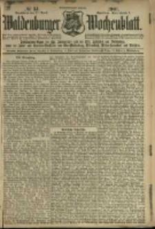 Waldenburger Wochenblatt, Jg. 47, 1901, nr 34