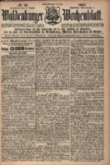 Waldenburger Wochenblatt, Jg. 47, 1901, nr 70