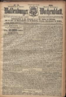 Waldenburger Wochenblatt, Jg. 47, 1901, nr 74