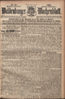 Waldenburger Wochenblatt, Jg. 47, 1901, nr 87
