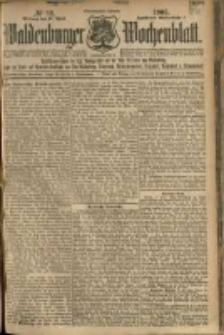 Waldenburger Wochenblatt, Jg. 51, 1905, nr 32
