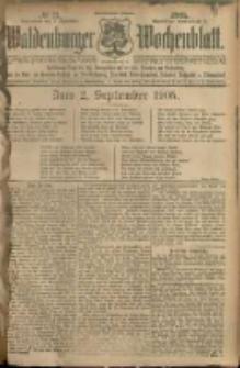 Waldenburger Wochenblatt, Jg. 51, 1905, nr 71