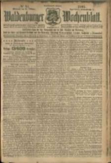 Waldenburger Wochenblatt, Jg. 51, 1905, nr 84