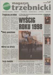 """Magazyn Trzebnicki : Oborniki Śląskie, Prusice, Trzebnica, Wisznia Mała, Zawonia, Żmigród : dodatek do """"Gazety Wrocławskiej"""", 1999, nr 1 (64) [8.01]"""