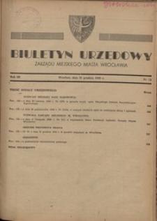 Biuletyn Urzędowy Zarządu Miejskiego Miasta Wrocławia, R. 3, 1949, nr 12 [31 grudnia]