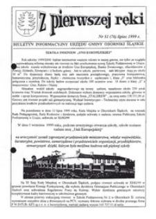 Z Pierwszej Ręki : biuletyn informacyjny Urzędu Gminy Oborniki Śląskie, 1999, nr 51 (76)