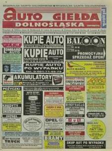 Auto Giełda Dolnośląska : regionalna gazeta ogłoszeniowa, 2000, nr 86 (714) [27.10]