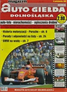Auto Giełda Dolnośląska : magazyn, 2001, nr 80 (809) [8.10]