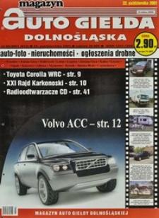 Auto Giełda Dolnośląska : magazyn, 2001, nr 85 (813) [22.10]