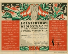 Żołnierzowi demokracji za walkę z najeźdzcą niemieckim [Dokument elektroniczny]