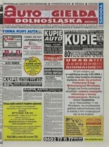 Auto Giełda Dolnośląska : regionalna gazeta ogłoszeniowa, 2004, nr 11 (1099) [28.01]