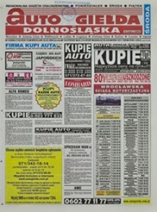 Auto Giełda Dolnośląska : regionalna gazeta ogłoszeniowa, 2004, nr 14 (1102) [4.02]