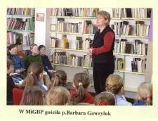 Spotkanie autorskie z Barbarą Gawryluk [Dokument ikonograficzny]