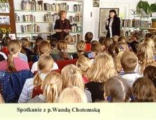 Spotkanie autorskie z Wandą Chotomską [Dokument ikonograficzny]