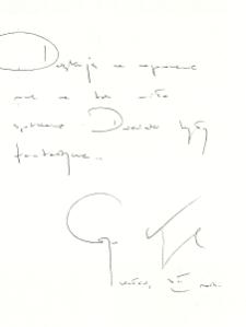 Autograf Grzegorza Kasdepke [Dokument ikonograficzny]
