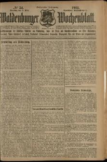 Waldenburger Wochenblatt, Jg. 60, 1914, nr 54