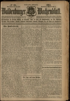 Waldenburger Wochenblatt, Jg. 60, 1914, nr 68