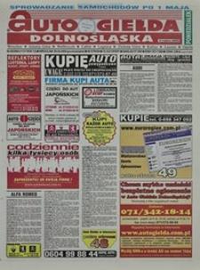 Auto Giełda Dolnośląska : regionalna gazeta ogłoszeniowa, 2004, nr 48 (1136) [26.04]