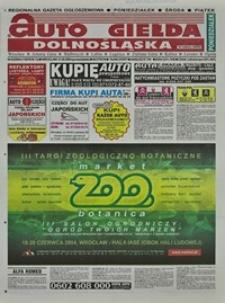 Auto Giełda Dolnośląska : regionalna gazeta ogłoszeniowa, 2004, nr 62 (1150) [31.05]
