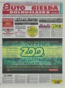 Auto Giełda Dolnośląska : regionalna gazeta ogłoszeniowa, 2004, nr 68 (1156) [14.06]