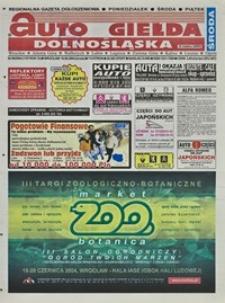 Auto Giełda Dolnośląska : regionalna gazeta ogłoszeniowa, 2004, nr 69 (1157) [16.06]