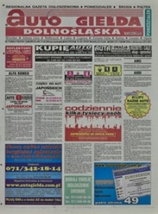 Auto Giełda Dolnośląska : regionalna gazeta ogłoszeniowa, 2004, nr 71 (1159) [21.06]